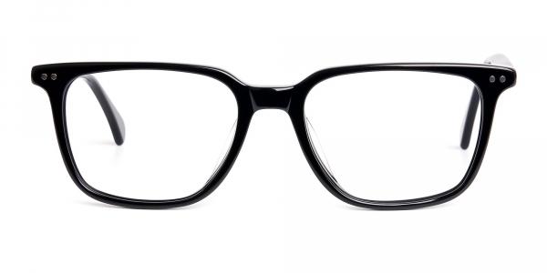 black rectangular wayfarer full rim glasses frames