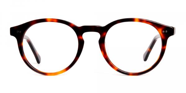 tortoise shell round full rim glasses frames