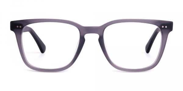matte grey full rim wayfarer glasses frames