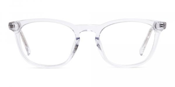 crystal clear or transparent full rim glasses frames