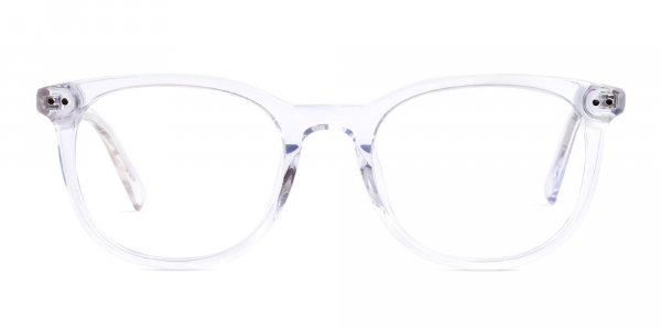 crystal clear or transparent round glasses frames
