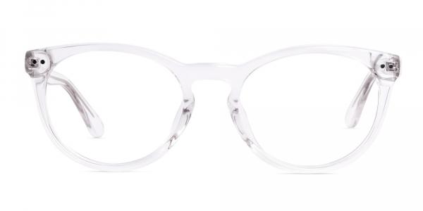 crystal clear or transparent round full rim glasses frames