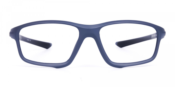 Rectangular Blue Prescription Sports Glasses For Cycling