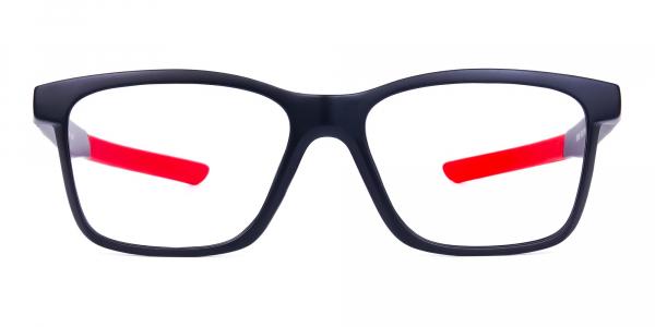 Red & Black Rectangular Rim Goggles For Biking