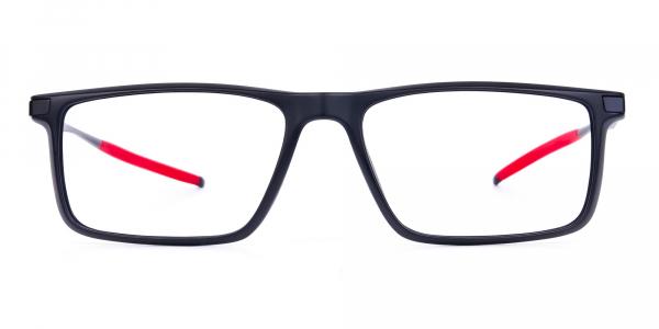 Black full rimmed prescription cycling glasses