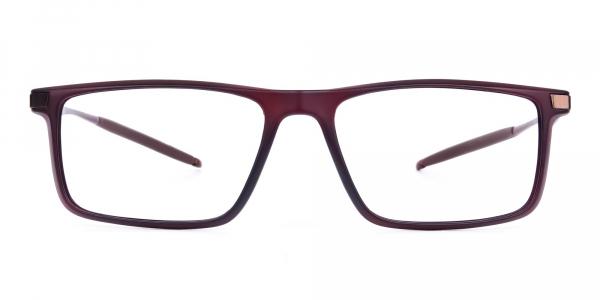 Sports Brown prescription running glasses