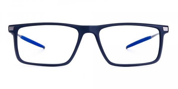 Blue and Black Prescription Football Glasses