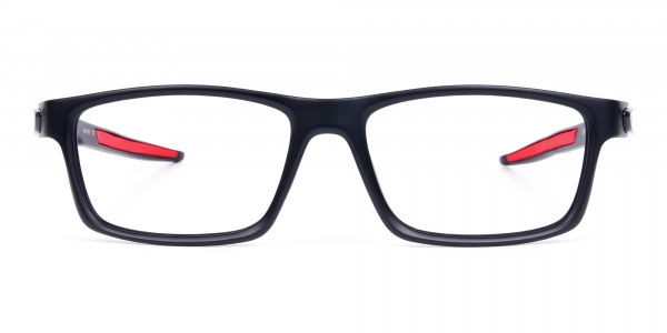 black cycling eyewear