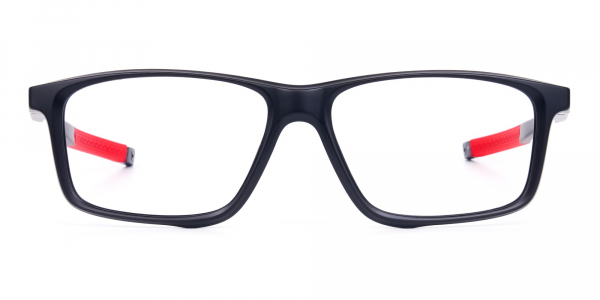 Black and Red Sports Glasses in Rectangle Shape
