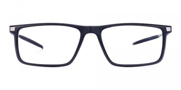 Black full rimmed prescription sports glasses