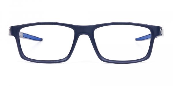 Blue Designer Rectangular Glasses Frames