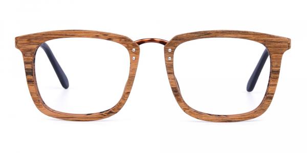 Elm Brown Full Rim Wooden Glasses