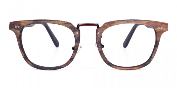 Tortoise Square Full Rim Wooden Glasses
