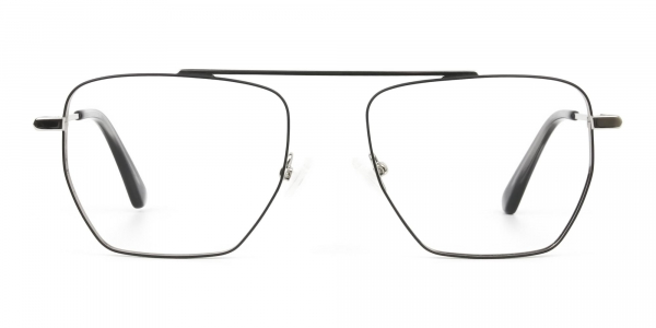 Lightweight Black and Silver Wire Frame Glasses Men Women