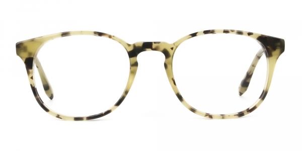 Keyhole Marzipan Tortoise Eyeglasses in Wayfarer
