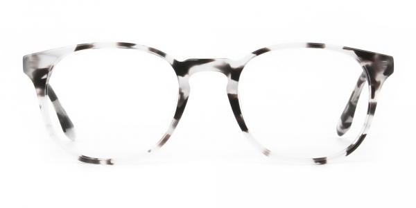 Marble Grey Glasses Frames in Wayfarer