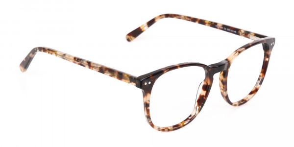 Tortoise Acetate Wayfarer Eyeglasses Unisex-2