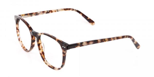 Tortoise Acetate Wayfarer Eyeglasses Unisex-3