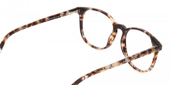 Tortoise Acetate Wayfarer Eyeglasses Unisex-5