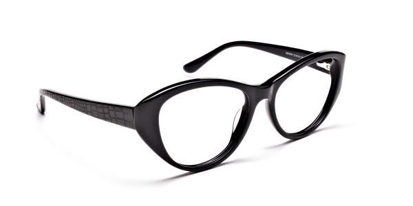 Glossy Black Glasses -1