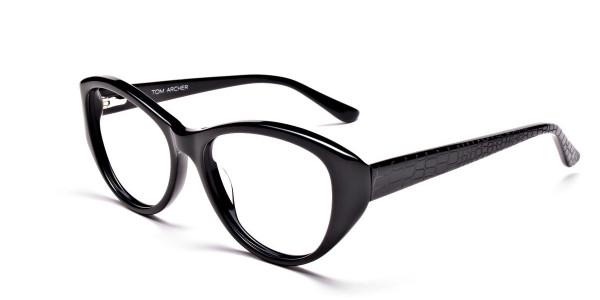 Glossy Black Glasses -2