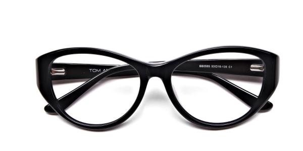 Glossy Black Glasses -5