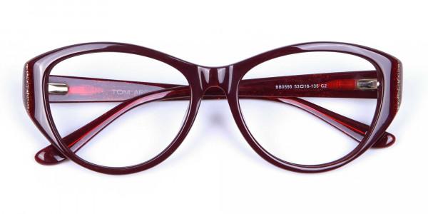 Burgundy Red Glasses -6