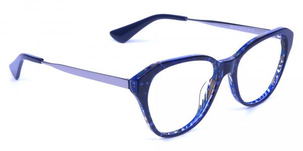 Dark Blue Cat Eye Frames -1
