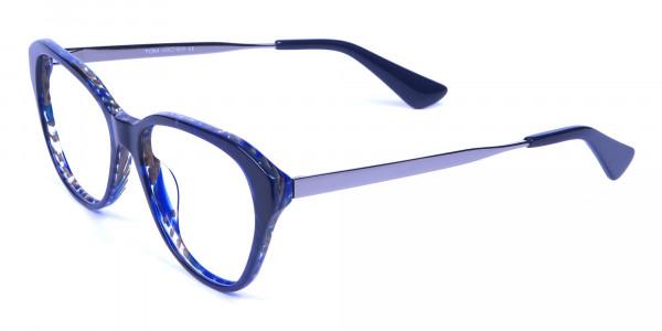 Dark Blue Cat Eye Frames -2