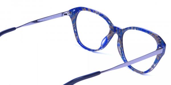 Dark Blue Cat Eye Frames -4