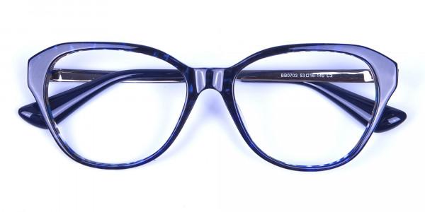 Dark Blue Cat Eye Frames -5