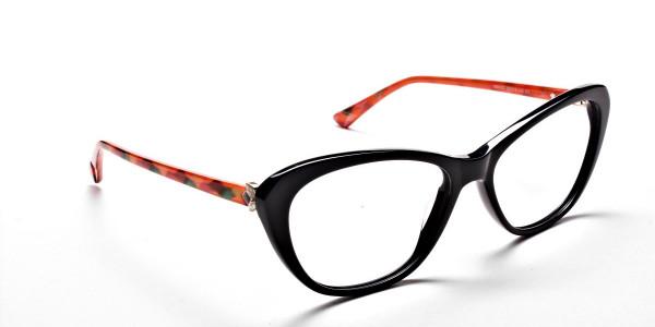 Cat Eye Two Tone with Black & Orange Frame -1