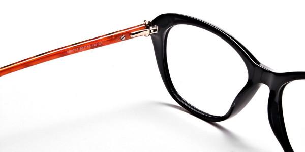 Cat Eye Two Tone with Black & Orange Frame -4