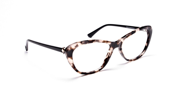 Cat Eye Transparent with Brown Accents -1