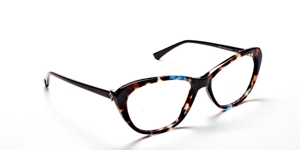 Cat Eye Glasses with Tortoiseshell Colour Textures -1