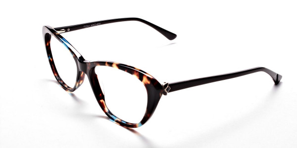 Cat Eye Glasses with Tortoiseshell Colour Textures -2