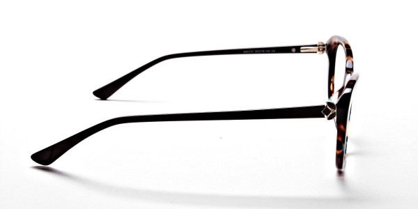 Cat Eye Glasses with Tortoiseshell Colour Textures -3