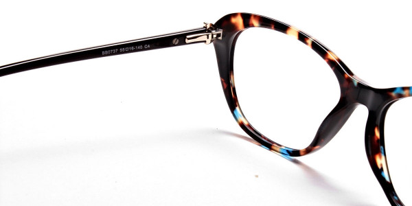 Cat Eye Glasses with Tortoiseshell Colour Textures -5