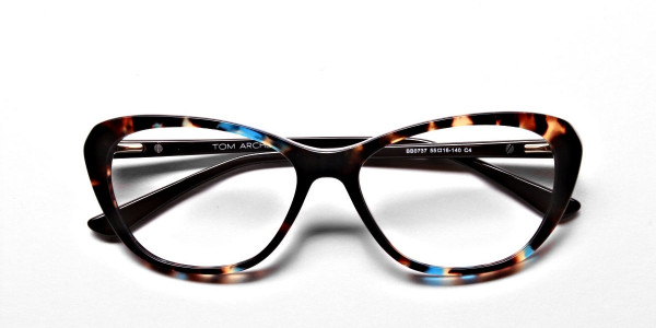 Cat Eye Glasses with Tortoiseshell Colour Textures -4
