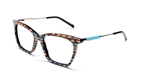 Beige & Mint Retro Glasses -2