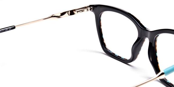 Beige & Mint Retro Glasses -5