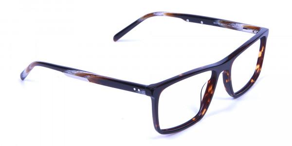 Rectangular glasses in tortoise shell for men & women - 1