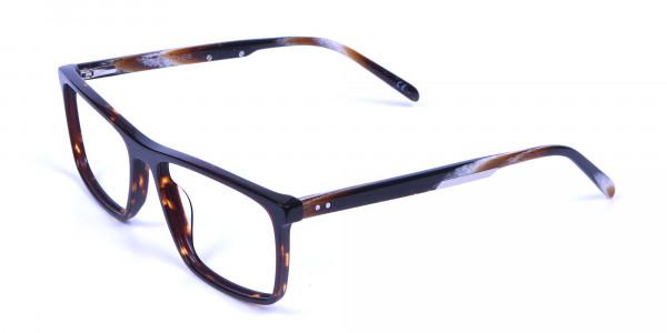 Rectangular glasses in tortoise shell for men & women - 2