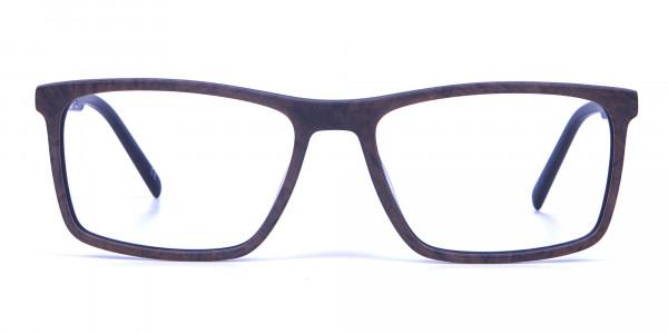 Wooden Texture Brown Rectangular Glasses for men and women