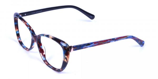 Blue Tortoiseshell Cateye Glasses for Women - 1Blue Tortoiseshell Cateye Glasses for Women -2
