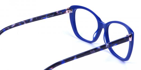 Royal Blue Cat Eye Glasses for Women - 4