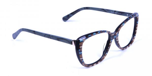 Beige & Mint Cat eye Glasses for Women - 1