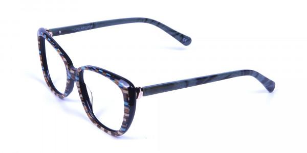 Beige & Mint Cat eye Glasses for Women - 2