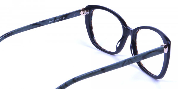 Beige & Mint Cat eye Glasses for Women - 4