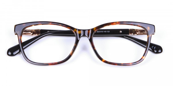 Tortoiseshell Cat Eye Glasses for Women - 5
